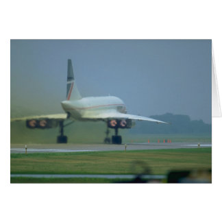 Concorde takes off, full afterburner card