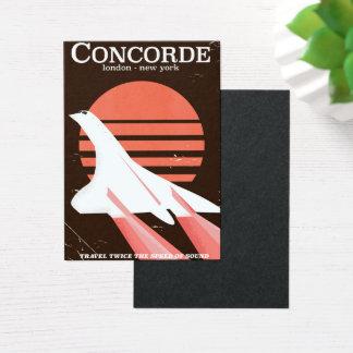 Concorde vintage flight travel poster business card