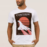 Concorde vintage flight travel poster T-Shirt