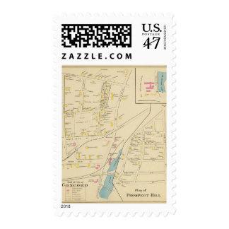 Concordia, colina de la perspectiva sello postal