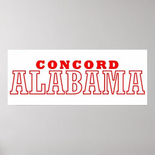 Concordia, diseño de la ciudad de Alabama Posters
