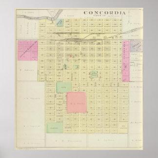 Concordia, el condado de Cloud, Kansas Póster