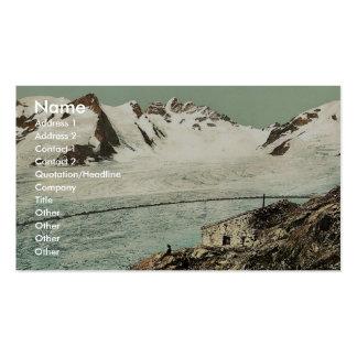Concordia Hut Valais Alps of Switzerland vintag Business Cards