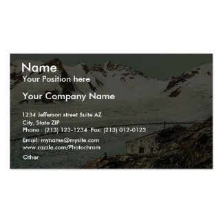 Concordia Hut Valais Alps of Switzerland vintag Business Card Templates