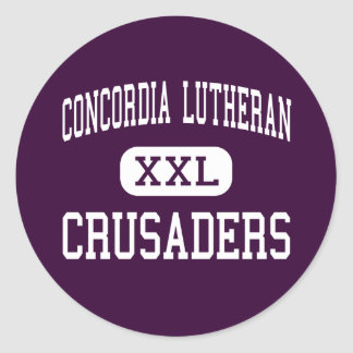 Concordia Lutheran - Crusaders - High - Tomball Classic Round Sticker