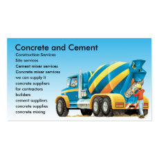 Concrete and Cement Mixer Business Cards