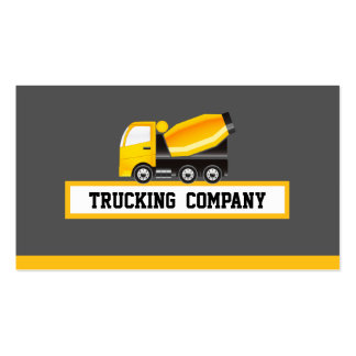Concrete and Cement Mixer Truck - Construction Business Card Templates