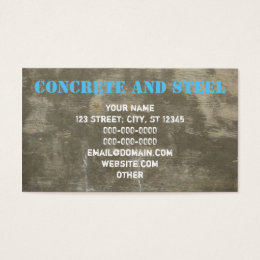Astounding concrete business cards photos best ideas exterior concrete business cards templates zazzle reheart Choice Image