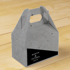 Concrete Black and White Modern Wedding Favor Box