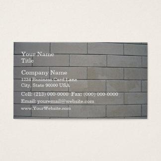 Concrete Blocks Texture Business Card
