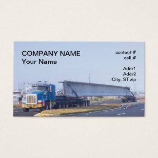 concrete bridge span transport business card