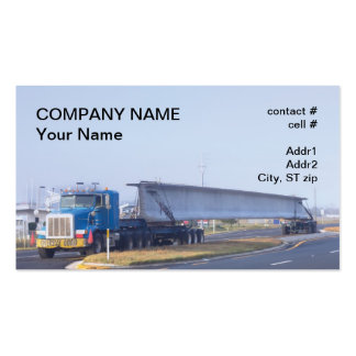 concrete bridge span transport business card template