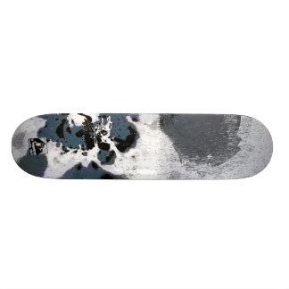 Concrete camouflage skateboard deck