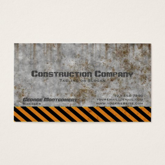 Concrete caution construction company business card zazzle concrete caution construction company business card colourmoves