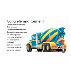 Concrete / Cement Mixer Construction Business Card