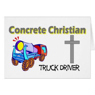 Concrete Christian truck driver design Card