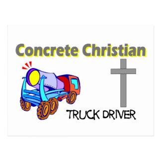 Concrete Christian truck driver design Postcard