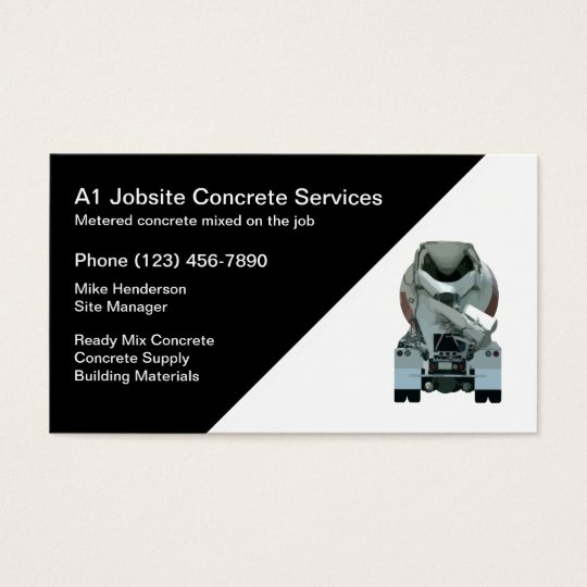 Concrete Construction Business Card