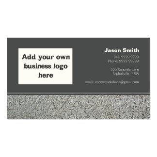 Concrete Constructions Commission Design Template Business Cards