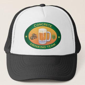 Concrete Drinking Team Trucker Hat