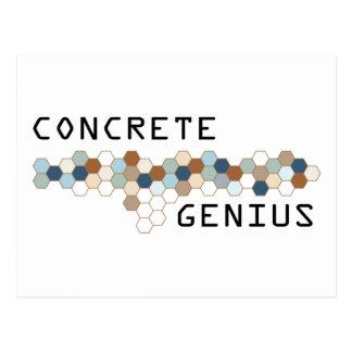Concrete Genius Postcard