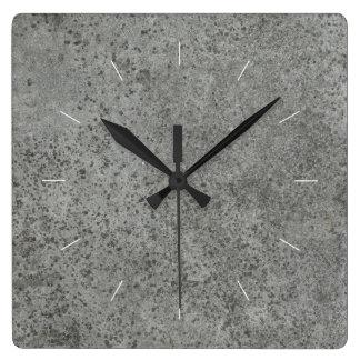 CONCRETE | industrial decor Square Wall Clock