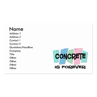 Concrete Is Forever Business Card
