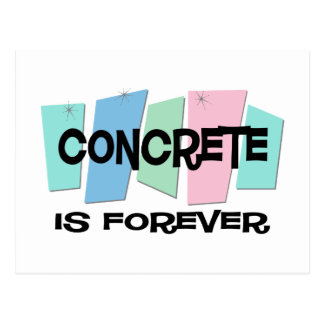 Concrete Is Forever Postcard