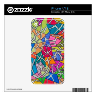 Concrete Jungle Abstract Art Skins For iPhone 4S
