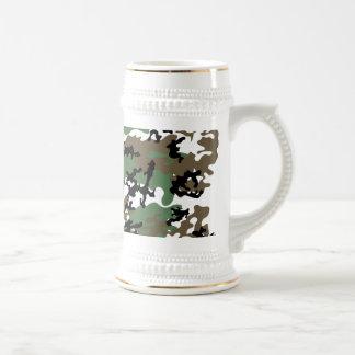 Concrete Jungle Camo Beer Stein Mugs