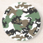 """Concrete Jungle Camo Sandstone Coaster<br><div class=""""desc"""">Concrete Jungle Camo Sandstone Coaster.  This Concrete Jungle camouflage design uses white,  brown,  black,  and grey to blend the combatant into their surroundings.</div>"""