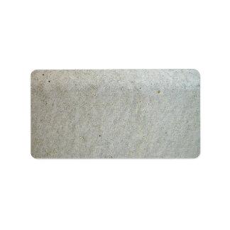 Concrete kerbing label
