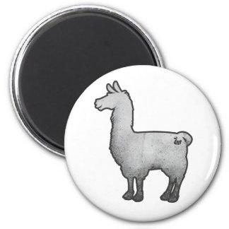 Concrete Llama Magnet