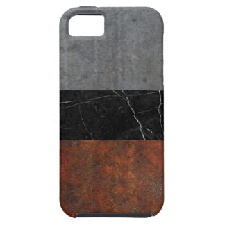 Concrete, Marble and Rusted Iron Abstract iPhone SE/5/5s Case