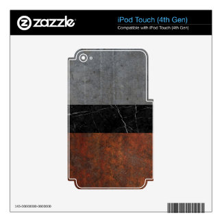 Concrete, Marble and Rusted Iron Abstract iPod Touch 4G Decal