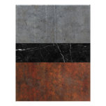 Concrete, Marble and Rusted Iron Abstract Letterhead