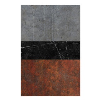 Concrete, Marble and Rusted Iron Abstract Stationery