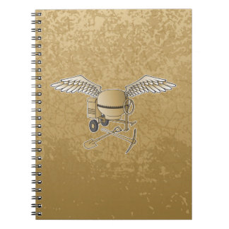 Concrete mixer beige notebook