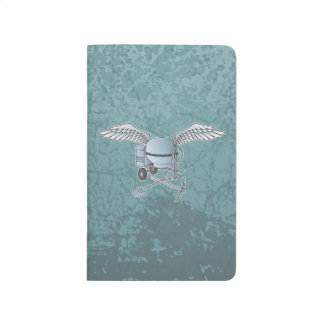 Concrete mixer blue-gray journal
