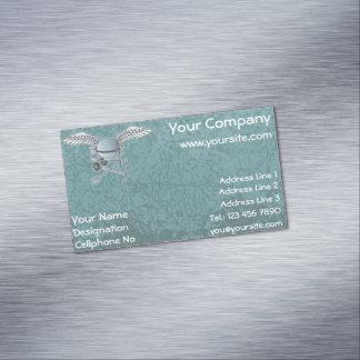Concrete mixer blue-gray magnetic business card