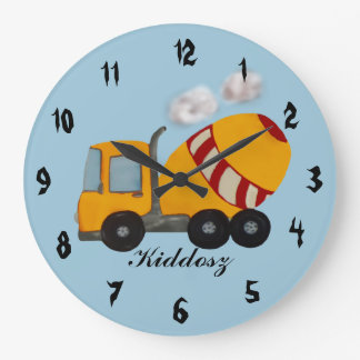 Concrete mixer large clock