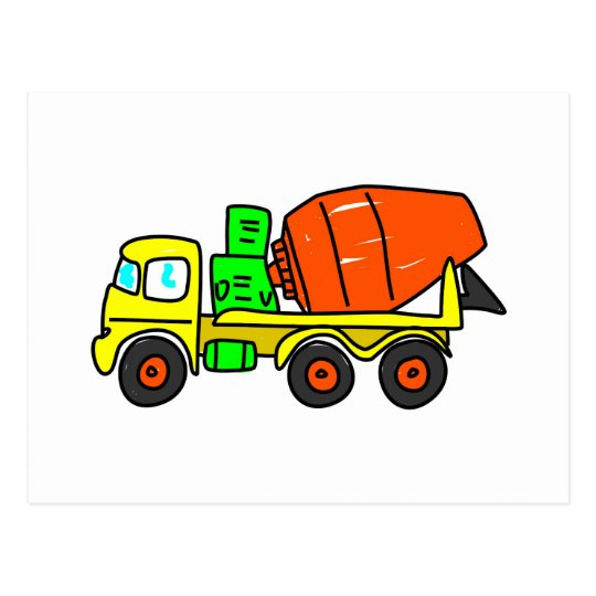 Concrete Mixer Postcard
