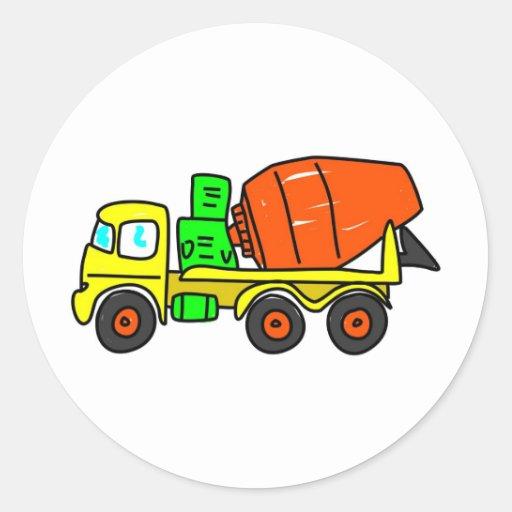 Concrete Mixer Round Sticker