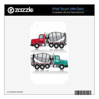 Concrete mixer Truck iPod Touch 4G Skins