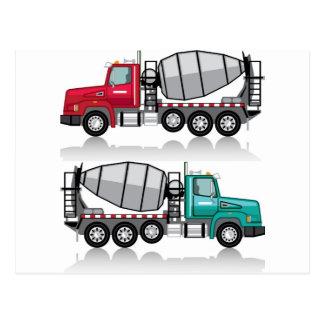 Concrete mixer Truck Postcard