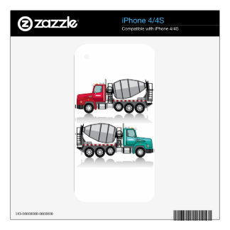 Concrete mixer Truck Skins For iPhone 4