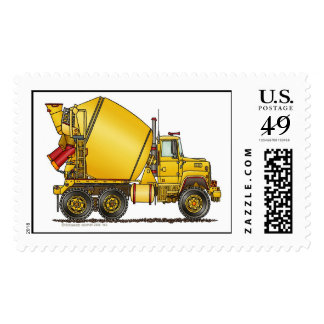 Concrete Mixer Truck Stamps