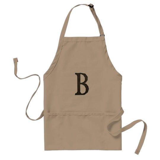 Concrete Monogram Letter B Adult Apron