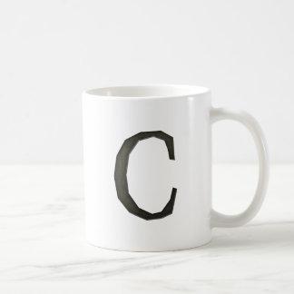 Concrete Monogram Letter C Coffee Mug