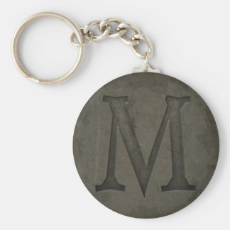 Concrete Monogram Letter M Key Chains